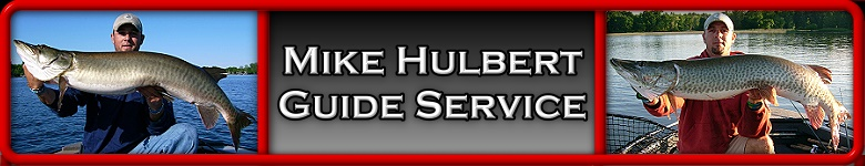 Musky fishing guide for Webster Lake, Indiana Areas with Mike Hulbert Muskie Fishing Guide Service.